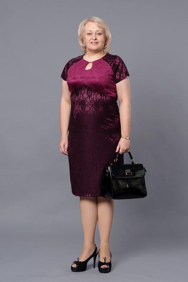 Платье VN24801 марсала