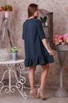 Платье 24801 бирюза на синем