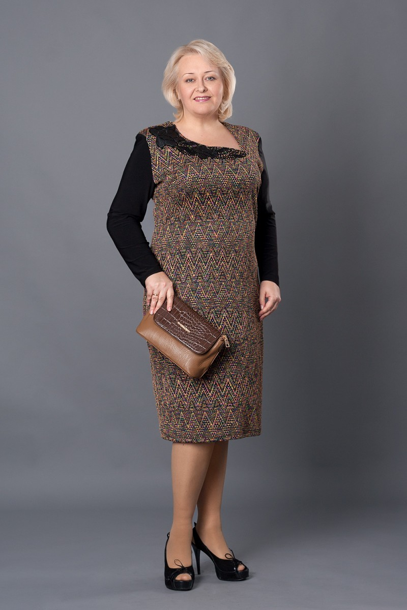Купити жовте плаття VN25903 великого розміру. Плаття з вовни купити ... 7cbbd00720fac