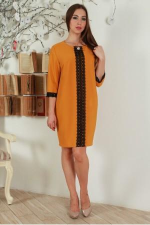 Платье YM27704 горчица
