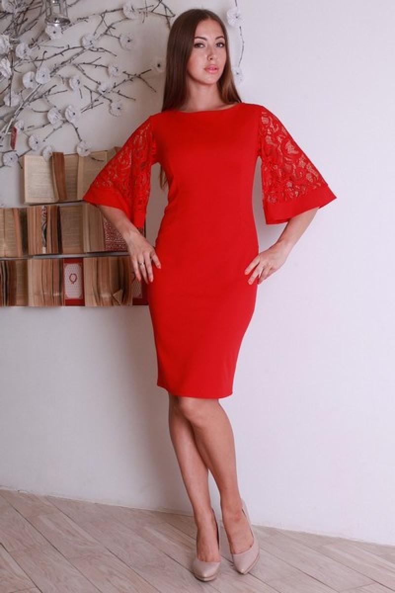 cc41b8ae96e Купить платье красного цвета YM27901 недорого оптом в интернет ...