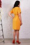 Платье 491 полубатал горчичный креп