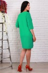 Платье 491 полубатал зеленый креп