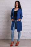 Кадриган 494 синій вязаний трикотаж