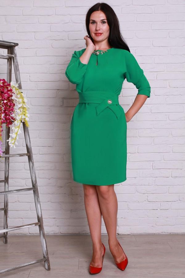 Платье 497 полубатал зеленый