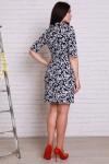 Платье 498 сине-белый с воротником