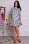 Платье 500  серая ангора буквы