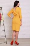 Платье 502 горчица креп