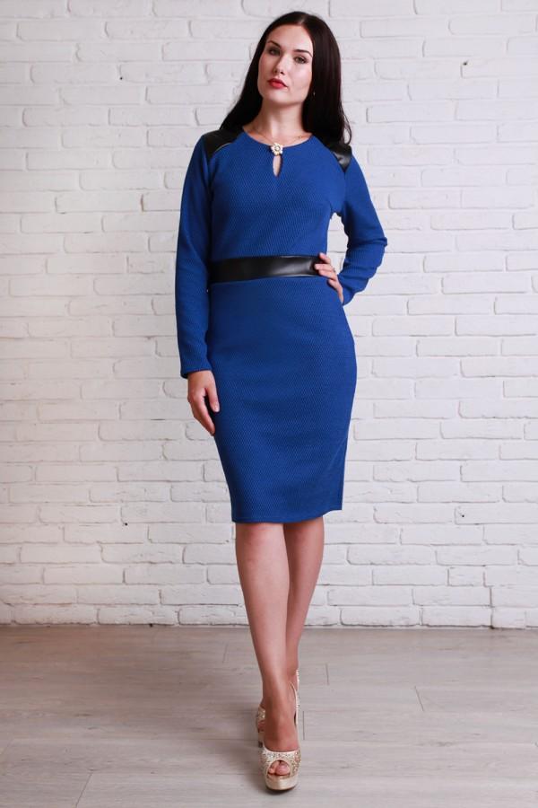 Платье 50603 синий