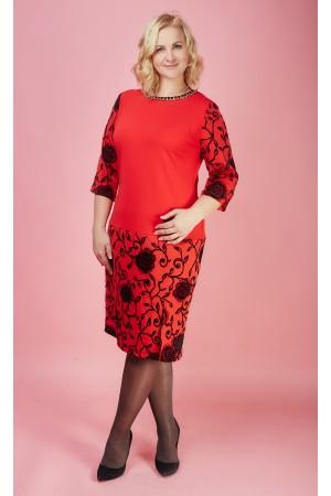 Плаття красное SL79403