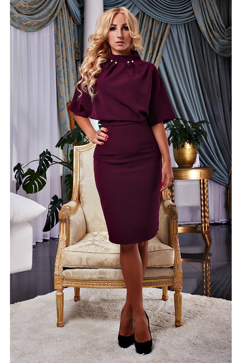 Купити осіннє плаття марсала AD15704 від виробника з доставкою у ... 09fd4bd789b86