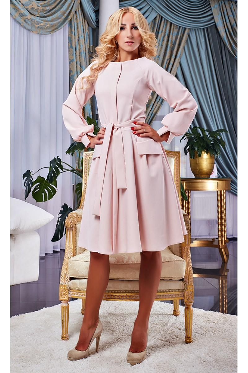 Купити пудрове осіннє плаття AD15901 від виробника з доставкою у ... dbce0e9ae3570