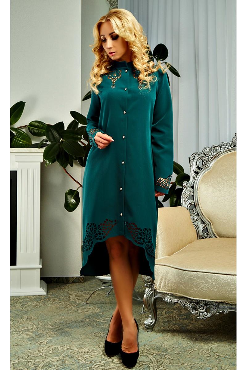 Купити осіннє плаття зеленого кольору AD17303 від виробника з ... fc19ae2854d07
