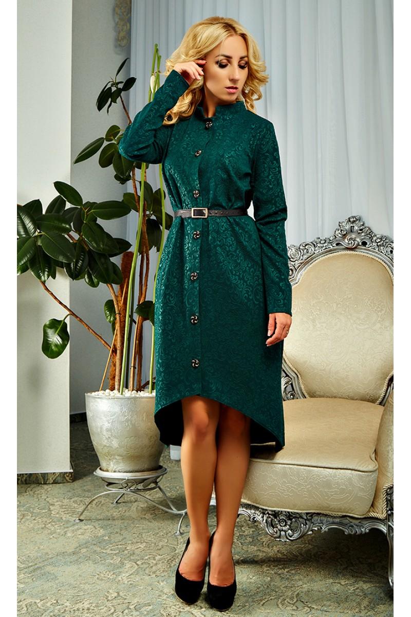 1460501848f81e2 Купить осеннее платье зеленого цвета AD17901 недорого от ...