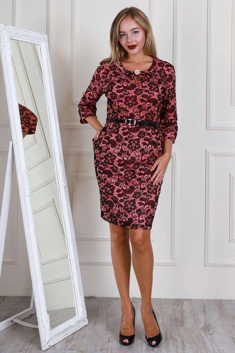 7bfc1807673 Купить платье бордового цвета нарядное AL61605 недорого от ...