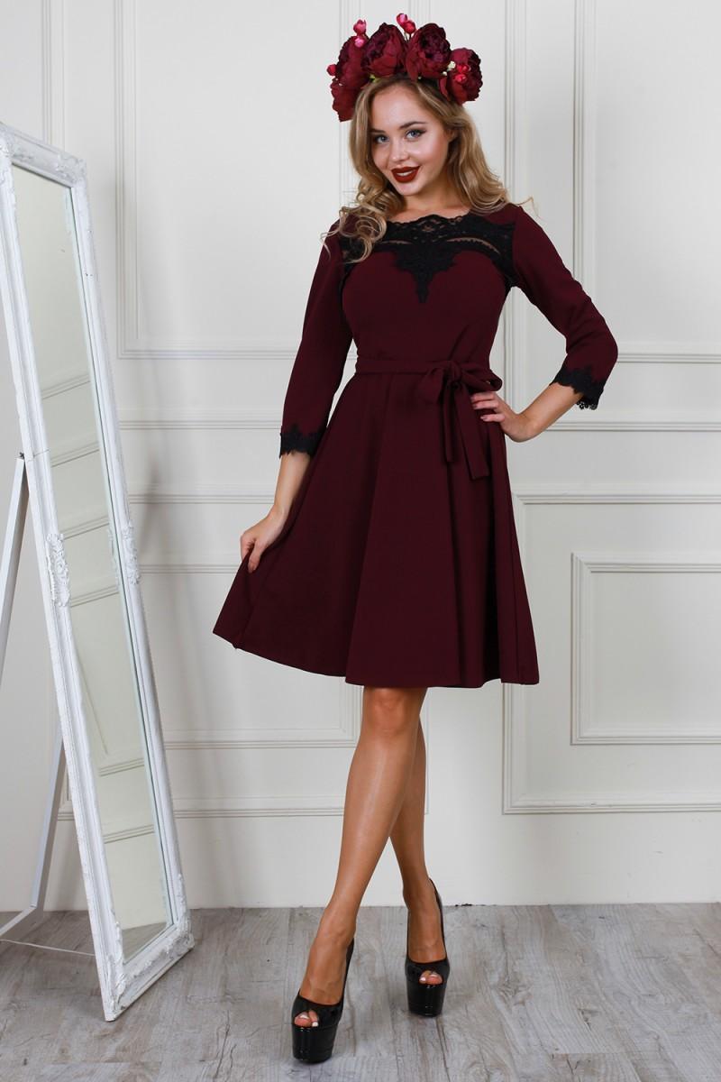 9801afa705f Купить платье цвета марсала нарядное AL62004 недорого от ...