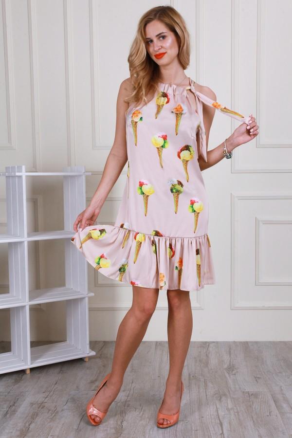 Літнє бежеве плаття AL59502