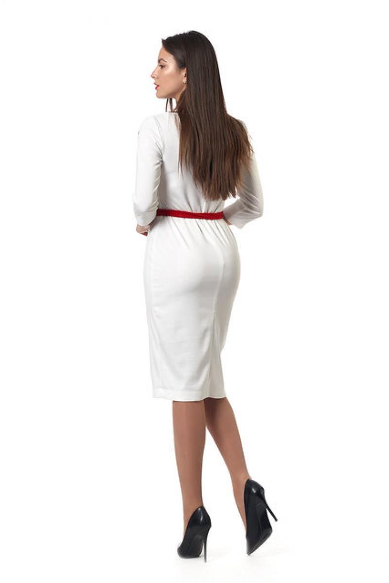 Молодіжне плаття Емілія 0252-1 вишиванка біла 652c1b618940f