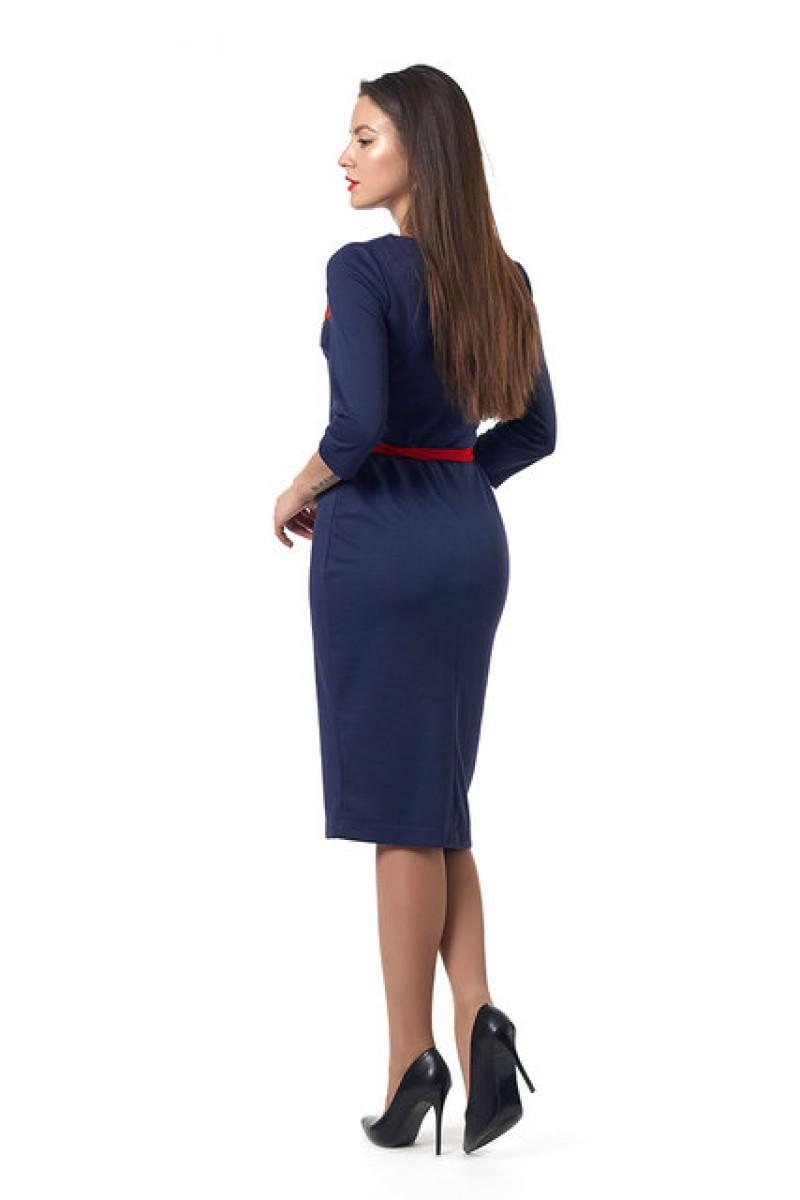 Молодіжне плаття Емілія 0252-3 вишиванка синя 6b88c11ffa3ee