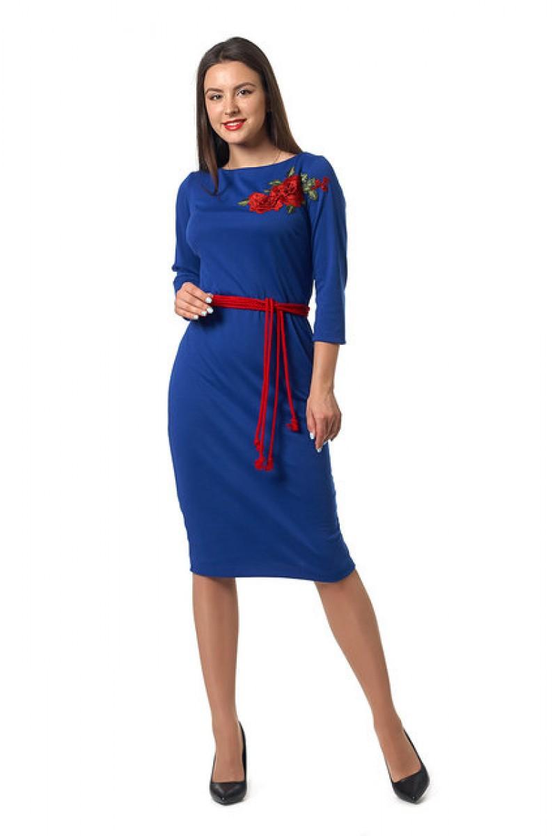 Купити молодіжне плаття недорого кольору електрик 0252-4 з ... 30117d02d532e
