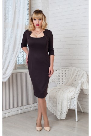Платье Жаклин 10404 шоколадный