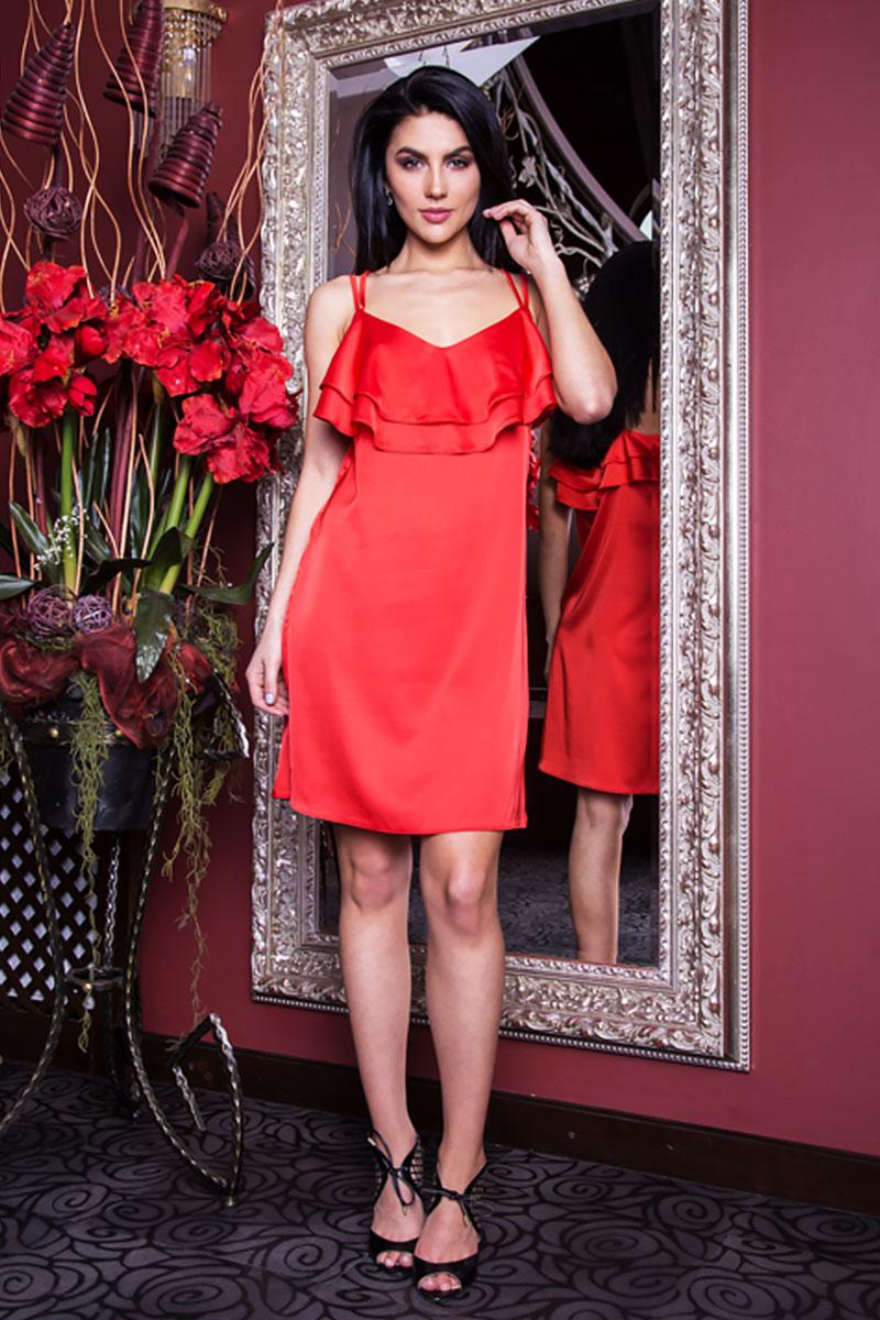 Купити червоне вечірнє плаття SL766-2 шовк недорого від виробника з ... a84639047bf3a