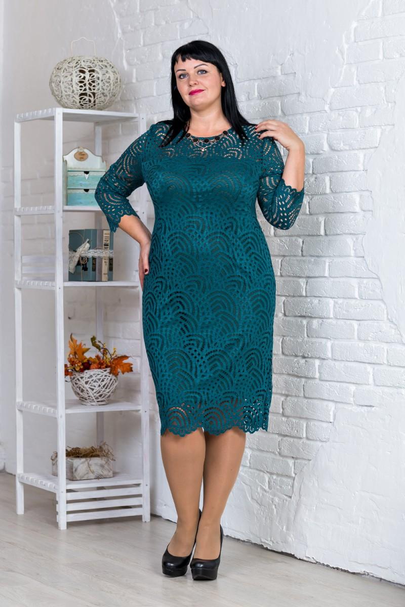 Купити зелене нарядне плаття великого розміру VN31102 від виробника ... 8f09ce99124d6