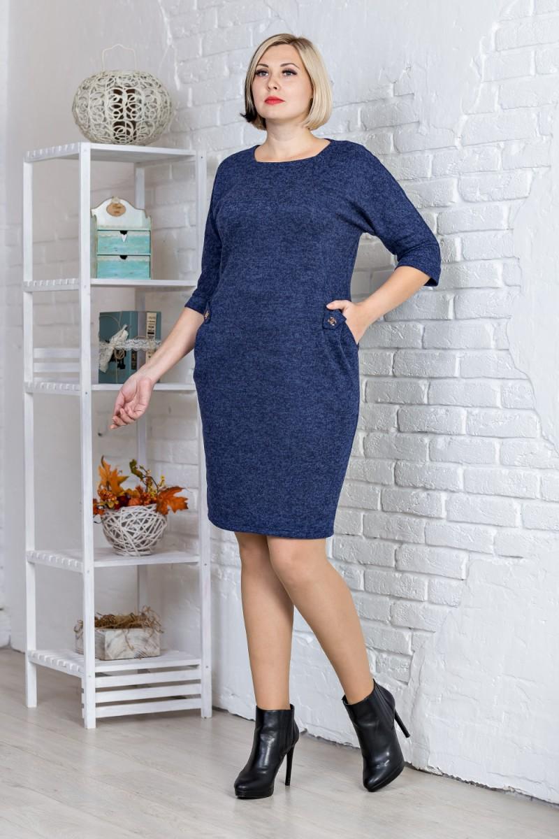 45aee847c740ef Купити повсякденне плаття великого розміру синього кольору від ...
