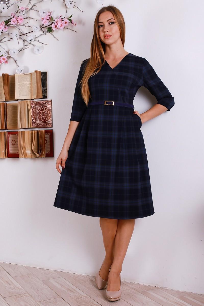 039f360e3eef13 Купити святкове плаття з вовни синього кольору YM30402 від виробника ...