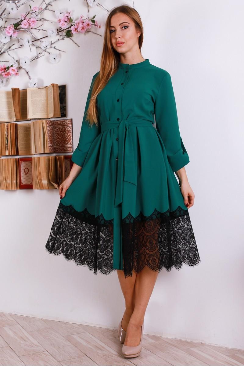 c2c193427679ccc Купить нарядное платье из трикотажа YM30602 бирюзового цвета ...