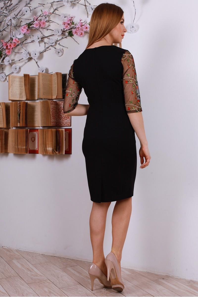 Купити стильне плаття з вишивкою YM31604 чорне від виробника з ... dc0097a9f5528
