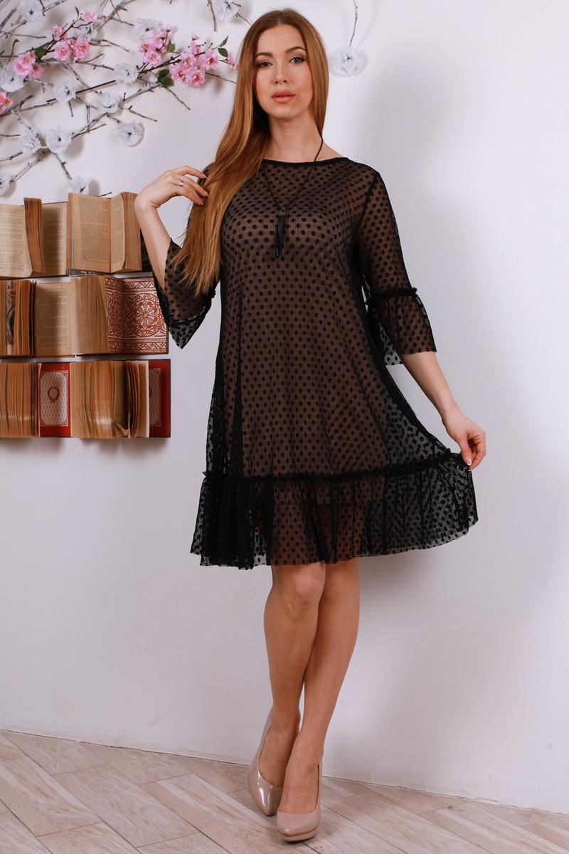 Купити стильне плаття з сіткою YM31801 чорне від TM Goody з ... 6657f21164947