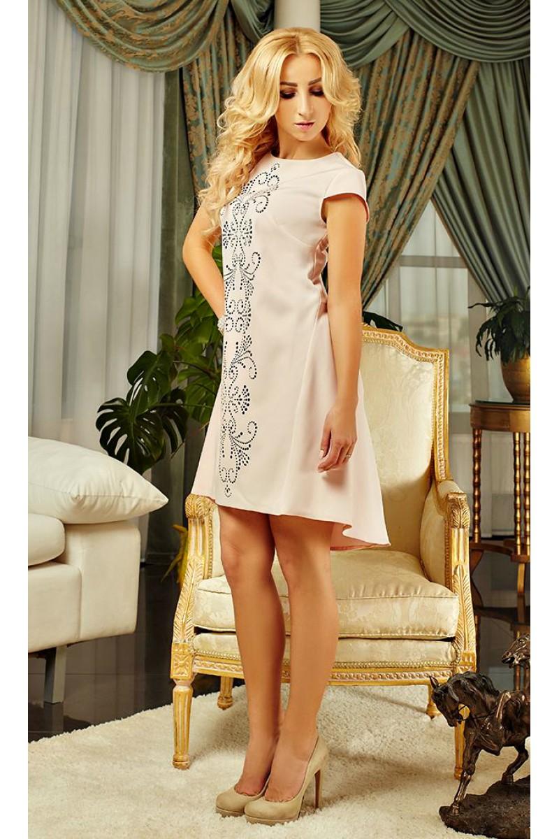 Купити рожеве плаття Еміне AD15002 з перфорацією від виробника з ... b09c62b8764a9