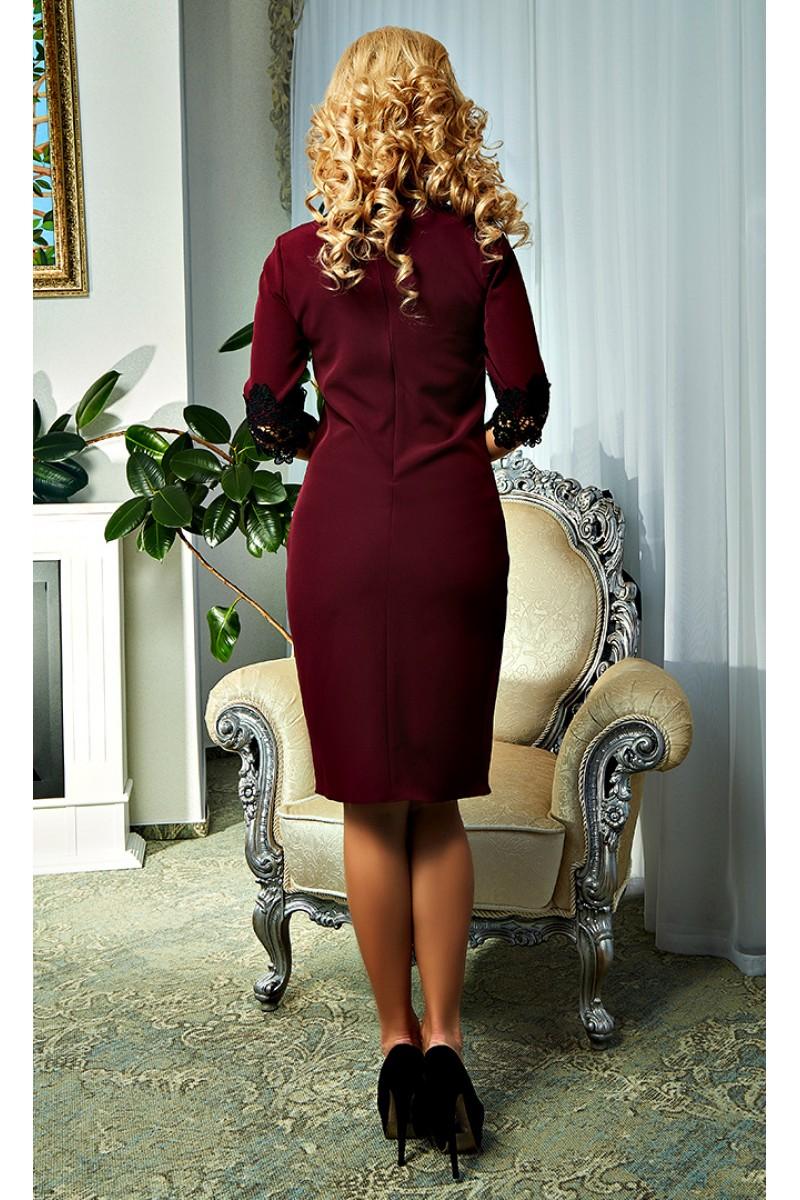 Купити бордове плаття Софія AD19101 на запах від виробника з ... d336fe7bafc08