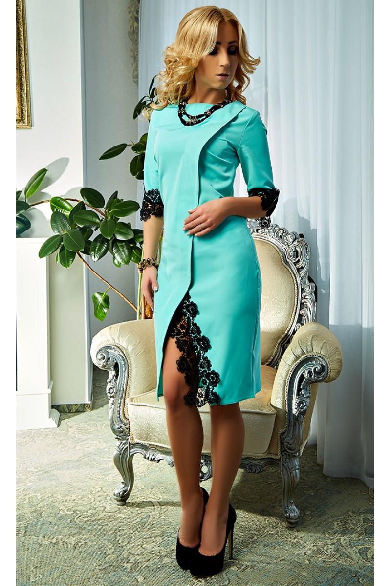 Купити м ятний плаття Софія AD19103 на запах від виробника з ... 0c47411624d58