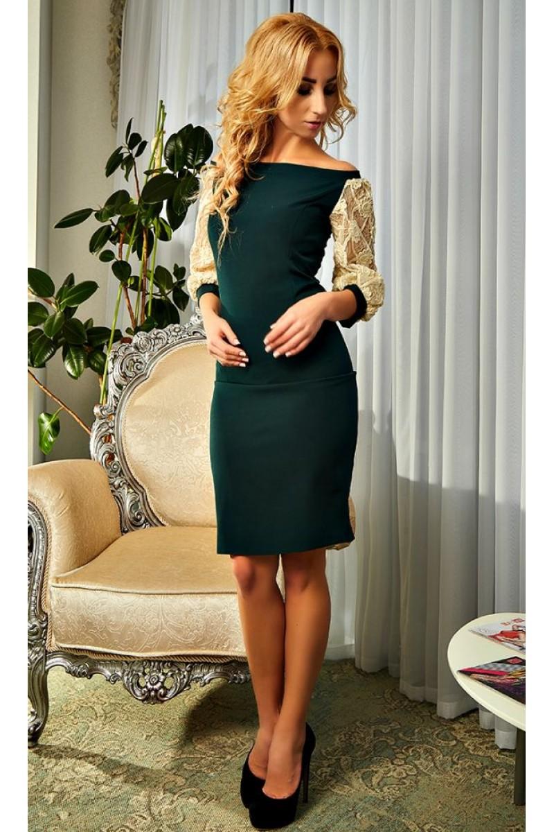 Купити коктейльне плаття смарагдового кольору 2018 Ауріка AD19803 ... 9e8237a56fd82