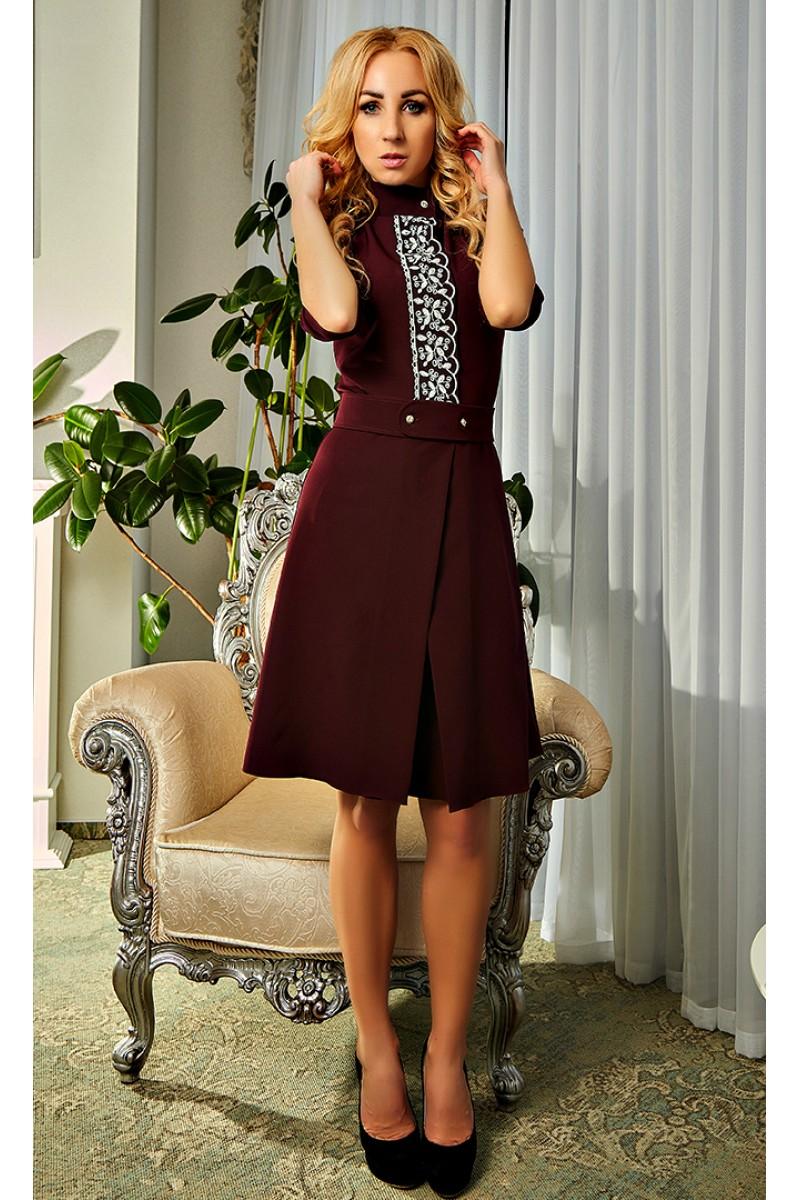 Купити Оригінальне плаття кольору марсала 2018 Камілла AD20001 від ... ac1a88f96b65e