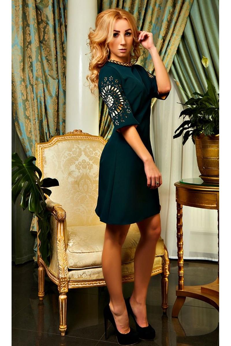 dd63f098bee Купить изумрудное коктейльное платье Шэрон AD21001 весна 2018 ...