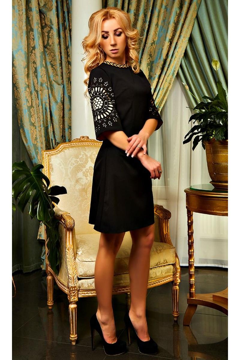 5700a40a1da Купить черное коктейльное платье Шэрон AD21002 весна 2018 недорого ...