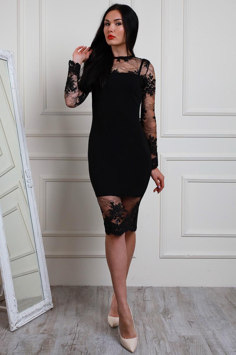 d9a9eaf59c3213 Купити вечірнє чорне плаття 2018 AL64502 з мереживом недорого від ...