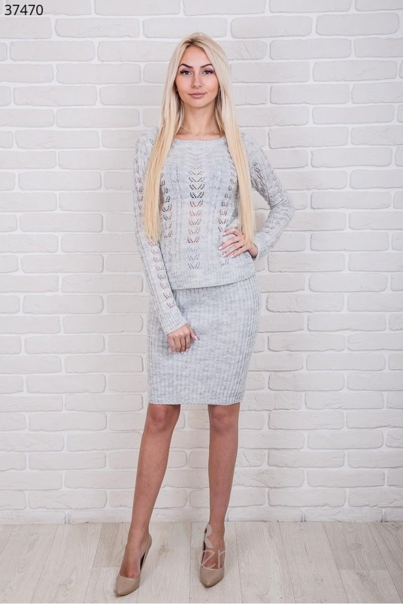 купить серый вязаный костюм 2018 Ar3747002 недорого от производителя