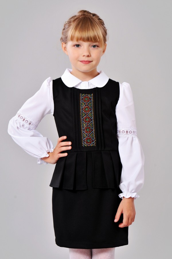Черный сарафан в школу для девочки