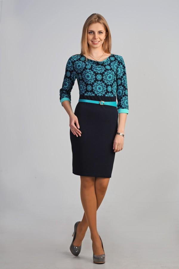Платье Илайн 189 бирюза