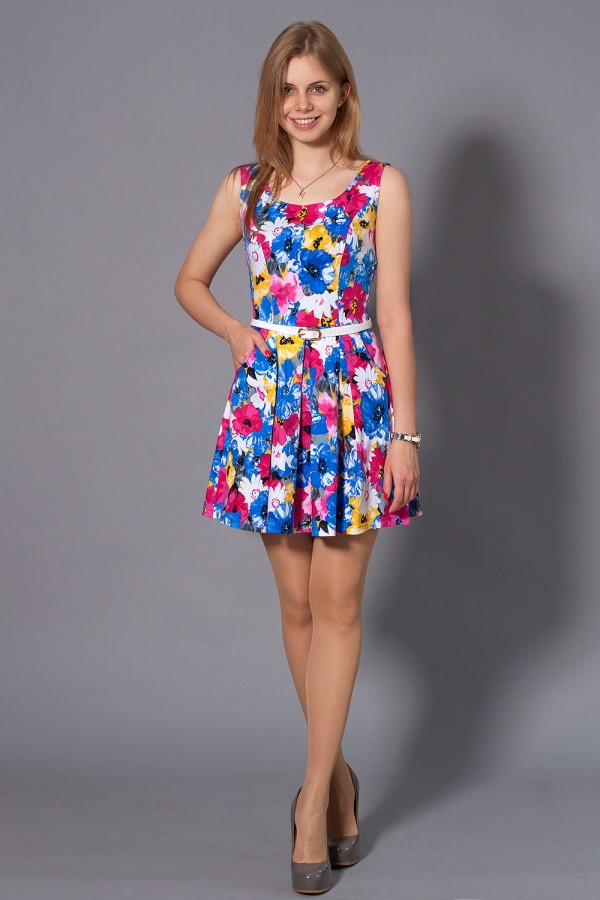 Платье Малибу 99 синий
