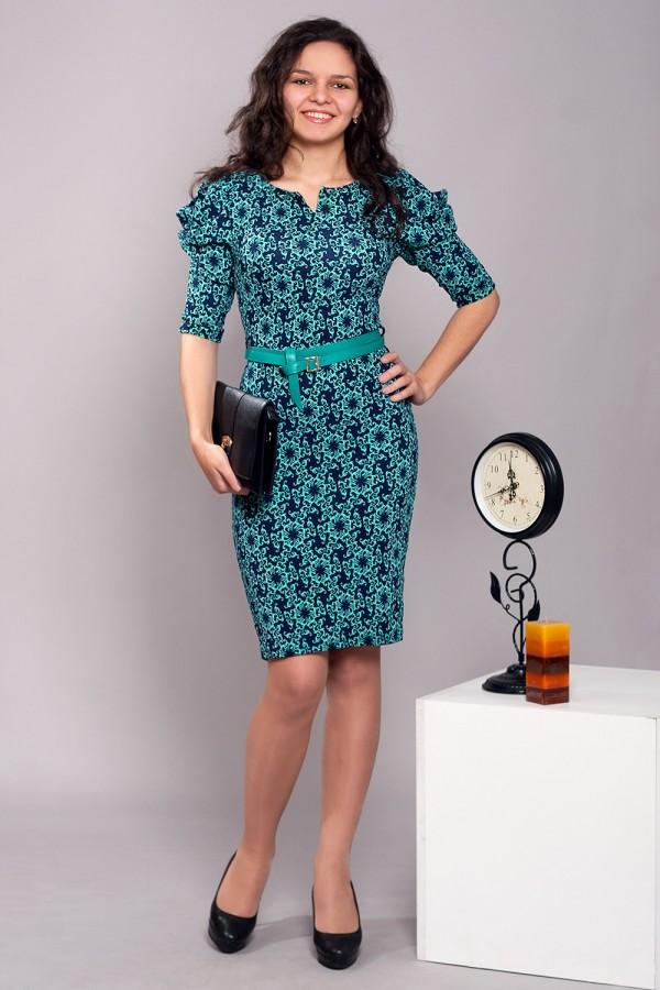 Платье Ингрид-2 118 бирюза