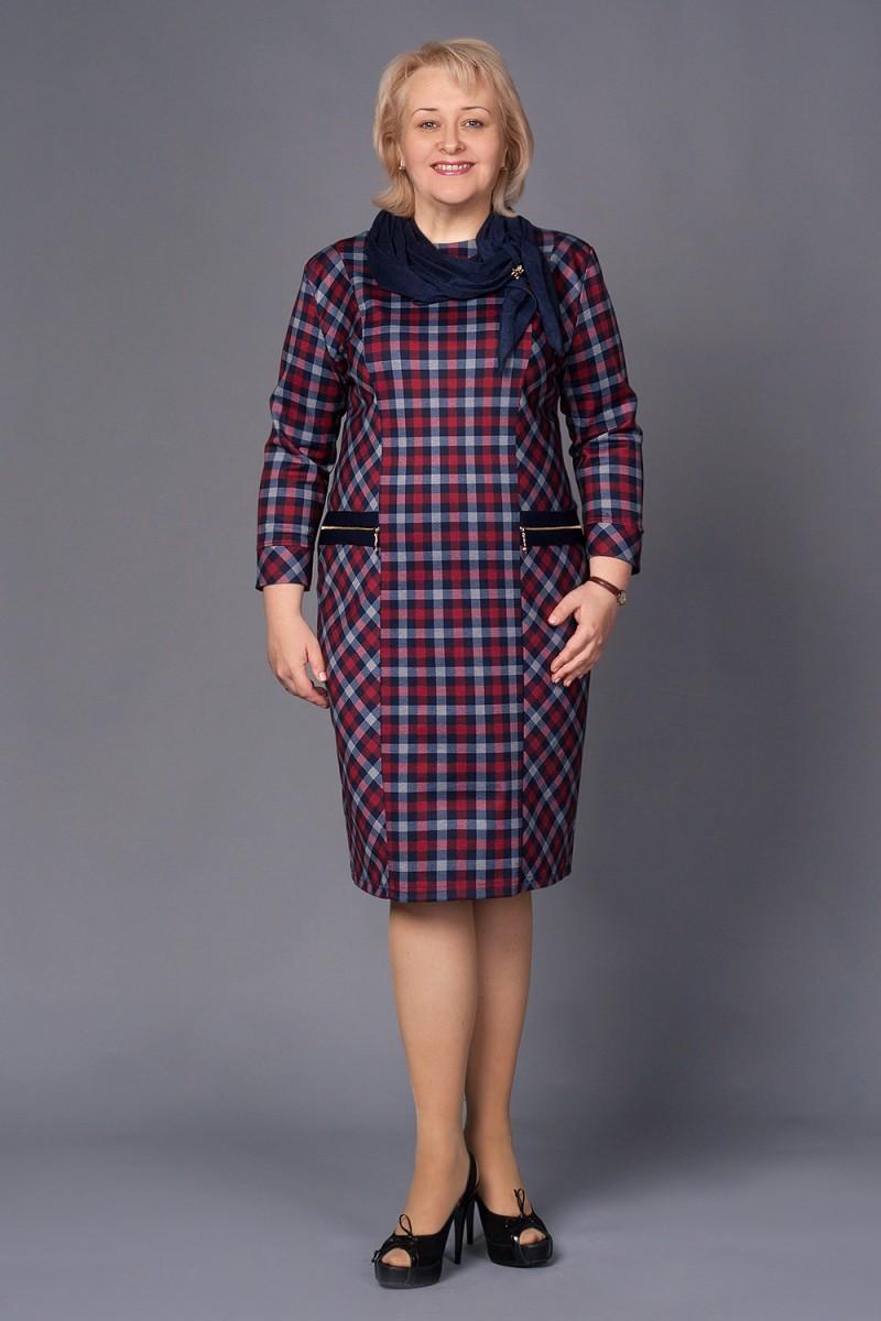 Купить Платье Анетт 159 красно-синяя клетка VN15905 недорого (за ... cc7be9e223bae