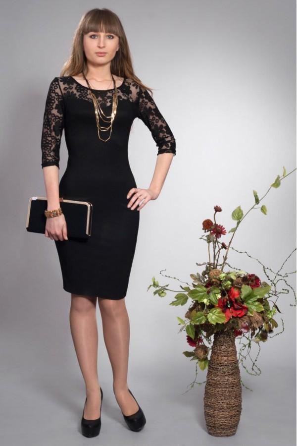 Платье Огния 128 чёрный