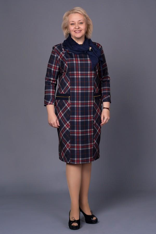 Платье Анетт 159 красная клетка