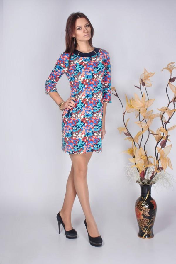 Платье Теффи 160 кружочки