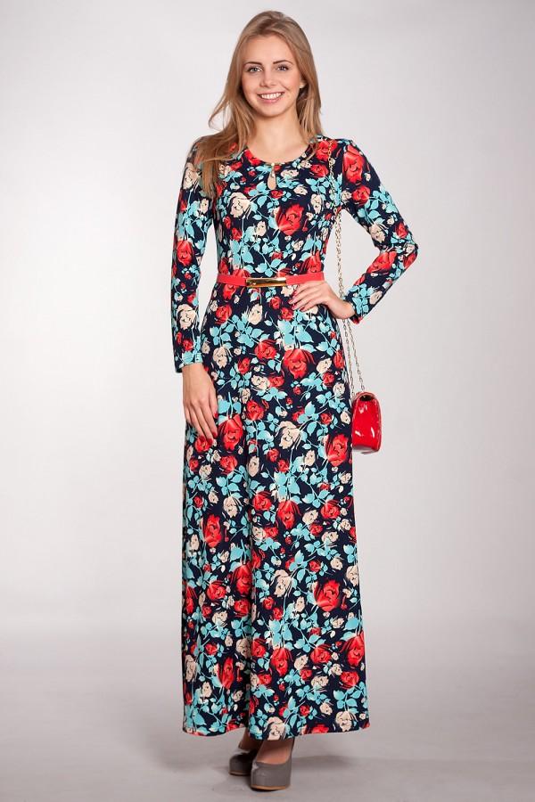 Платье Зафира 164 тёмно-синий